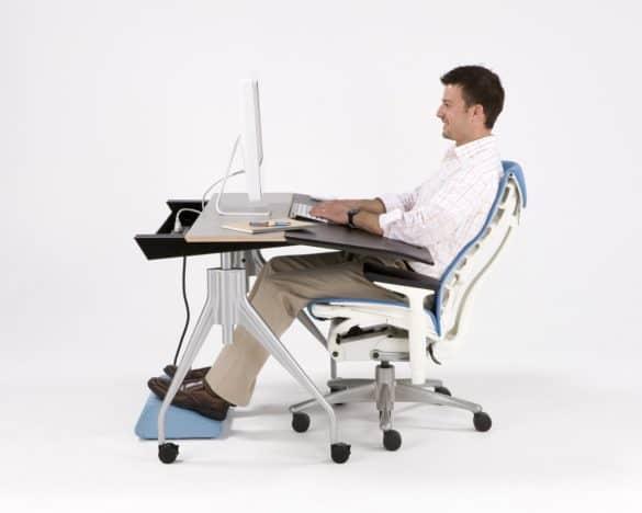 Impacto do apoio e movimentação das cadeiras ergonómicas