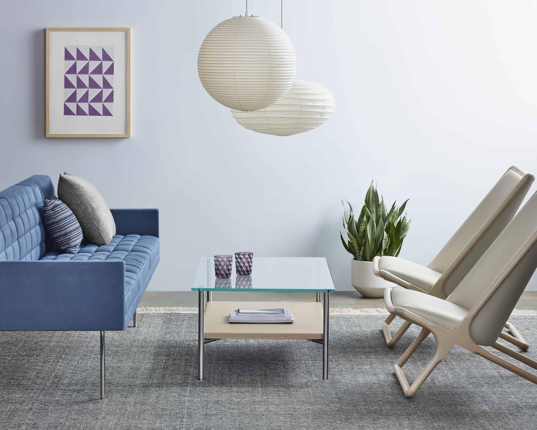 Cadeiras de sala de espera confortáveis